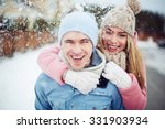 young guy and girl in... | Shutterstock . vector #331903934