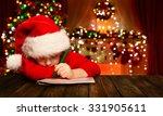 christmas child write letter to ... | Shutterstock . vector #331905611