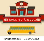 back to school theme with... | Shutterstock .eps vector #331909265