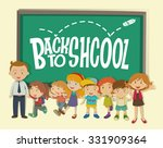 back to school theme with... | Shutterstock .eps vector #331909364
