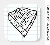 waffle doodle | Shutterstock .eps vector #331910051