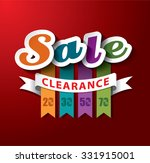 sale clearance vector design | Shutterstock .eps vector #331915001