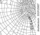 silhouette spiderweb | Shutterstock . vector #331915007