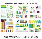 infographic mega collection.... | Shutterstock .eps vector #331920335