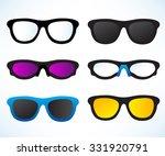 set of eyeglasses and sunglasses   Shutterstock .eps vector #331920791