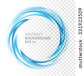 abstract blue swirl circle on... | Shutterstock .eps vector #331923509