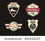 american football badge with... | Shutterstock .eps vector #331924247