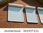 the brick wall and windows with ... | Shutterstock . vector #331927121