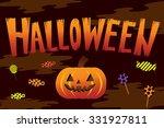 happy halloween party... | Shutterstock .eps vector #331927811