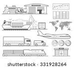 Logistic Concept Info Graphics...