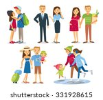 family with child at the... | Shutterstock .eps vector #331928615