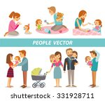 people and parenting | Shutterstock .eps vector #331928711