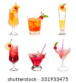 set of alocohol coctails with... | Shutterstock . vector #331933475