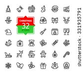 outline icon collection  ... | Shutterstock .eps vector #331935791