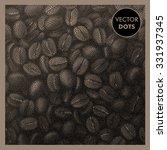 coffee background. beans vector ... | Shutterstock .eps vector #331937345