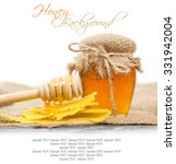 photo of honey in a glass jar... | Shutterstock . vector #331942004