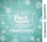 motivational message new year... | Shutterstock .eps vector #331949579