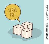 sugar free product design ... | Shutterstock .eps vector #331949669