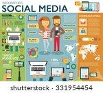 social media infographic set... | Shutterstock .eps vector #331954454