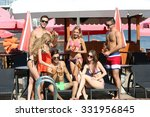 young people having fun near... | Shutterstock . vector #331956845