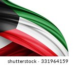 kuwait  flag of silk with... | Shutterstock . vector #331964159