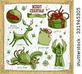 set of christmas elements   Shutterstock .eps vector #331965305