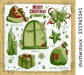 set of christmas elements   Shutterstock .eps vector #331965341