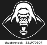 vector illustration  head evil... | Shutterstock .eps vector #331970909