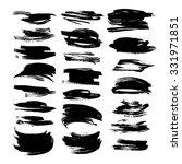 black textured strokes isolated ... | Shutterstock .eps vector #331971851