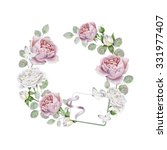 watercolor wreath with english... | Shutterstock . vector #331977407