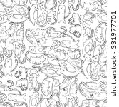 Seamless Pattern With Cats....