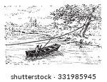 ferry  vintage engraved... | Shutterstock .eps vector #331985945