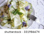 edible flowers and zucchini... | Shutterstock . vector #331986674