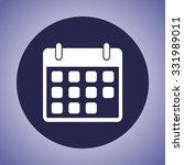 calendar sign icon  vector... | Shutterstock .eps vector #331989011