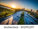 the sun rises over seoul  south ... | Shutterstock . vector #331991297