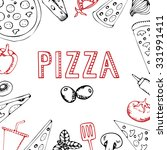 menu pizza. pizza restaurant... | Shutterstock .eps vector #331991411