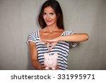 waist up portrait of a happy... | Shutterstock . vector #331995971