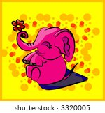 funny elephant playing with... | Shutterstock .eps vector #3320005