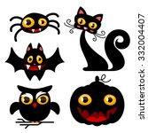 cartoon halloween characters | Shutterstock .eps vector #332004407