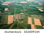 aerial view of a french village ... | Shutterstock . vector #332009144