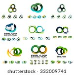 set of company logotype... | Shutterstock .eps vector #332009741