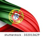 portugal   flag of silk with... | Shutterstock . vector #332013629