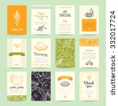 thanksgiving party invitation... | Shutterstock .eps vector #332017724