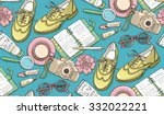hand drawn vector seamless...   Shutterstock .eps vector #332022221