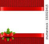 christmas background with bow... | Shutterstock . vector #332023415