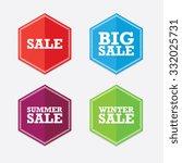 set of sale labels | Shutterstock .eps vector #332025731