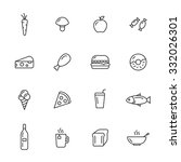 food thin line icons | Shutterstock .eps vector #332026301