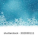 abstract blue white winter card ... | Shutterstock .eps vector #332030111