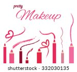 the makeup pencils for lips ... | Shutterstock .eps vector #332030135