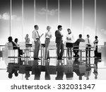 business people meeting... | Shutterstock . vector #332031347